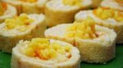 Rulo Ananaslı Pasta